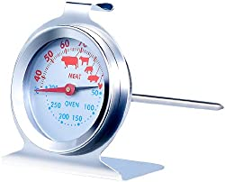 Rosenstein & Söhne Backthermometer: 3in1 XL Braten- und Ofen-Thermometer für Gar- & Backofentemperatur (Fleisch und Braten Thermometer)