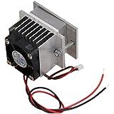 MagiDeal Kits Bricolaje Peltier Termoeléctrico Sistema de Refrigeración del Ventilador + Tec1-12706 Semiconductor Cooler