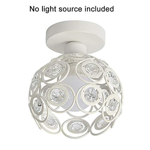 szdc88 Kristalldeckenleuchte Schatten,Moderne E27 Industrie Metall Flush Chrom Poliert Mount Ball Pendelleuchten Kronleuchter Leuchte FüR Schlafzimmer Wohnzimmer Flur -