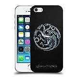 Head Case Designs Officiel HBO Game of Thrones Silver Targaryen Symboles Étui Coque en Gel Molle pour iPhone 5 iPhone 5s iPhone Se