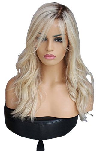 HotQueen 100% Brazilian Human Hair wigs Remy Long Ombre Blonde Lace Front Wigs (20inch full lace) -