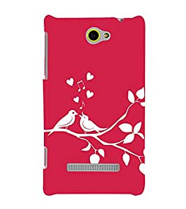 Fiobs Designer Back Case Cover for HTC Windows Phone 8S :: HTC 8S (Love Bird Art Theme)