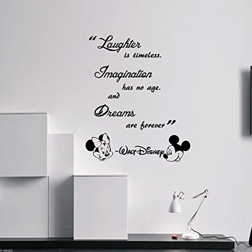 laughter-is-timeless-walt-disney-wall-quote-mickey-minnie-vinyl-decals-removable-wall-stickers