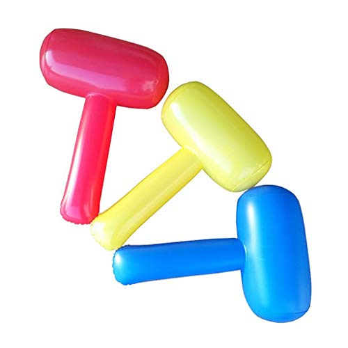 AMhuui Aufblasbare Hammer, Stick Spielzeug Clown Hammer Party Favors Handwerk Pool Strand im Freien Spielzeug Pool Float Spaß Spielzeug (3 Stück) (Hammer Tool Kostüm)