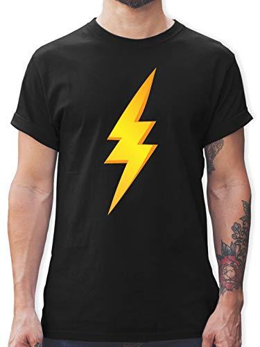 Schwarze Der Kostüm Blitz - Karneval & Fasching - Blitz Kostüm - M - Schwarz - L190 - Herren T-Shirt und Männer Tshirt
