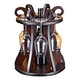 FELICIGG Klassisches Weinregal für Flaschen für Barschrank, hölzernes Weinregal für Haus, Küche, Bar, Wohnzimmer im festen Aufbau