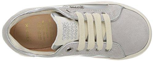 Geox Jr Kiwi B, Sneakers Basses Fille Argent (Silverc1007)