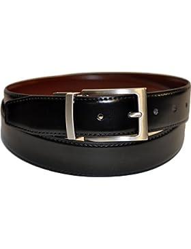 Ashford Ridge 34mm en caja de regalo Twist reversible del cinturón de cuero recubierto en Negro/marrón (tamaños...