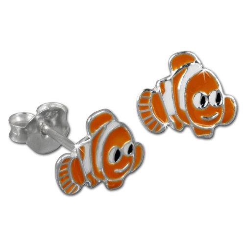 Teenie-Weenie Ohrstecker orange Ohrringe Silber Fisch orange Kinder D1SDO8113O -