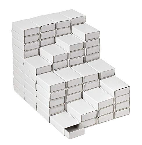 VBS Großhandelspackung 100 Streichholzschachteln weiß Schachtel leer blanko