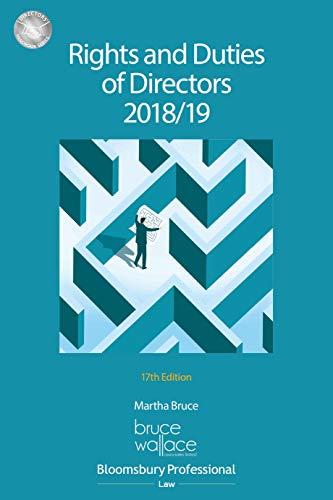 Rights and Duties of Directors 2018/19 (Directors' Handbook Series) (English Edition)