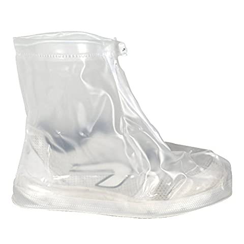 Transparent White XXXL Reusable Waterproof Rain Snow Protective Guard Slip-resistant Men Women Girls Boys Shoe