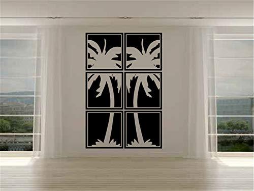 wandaufkleber blumen Strand Wand Aufkleber Aufkleber Palm Tree Panels für Wohnzimmer oder Schlafzimmer Wohnkultur -