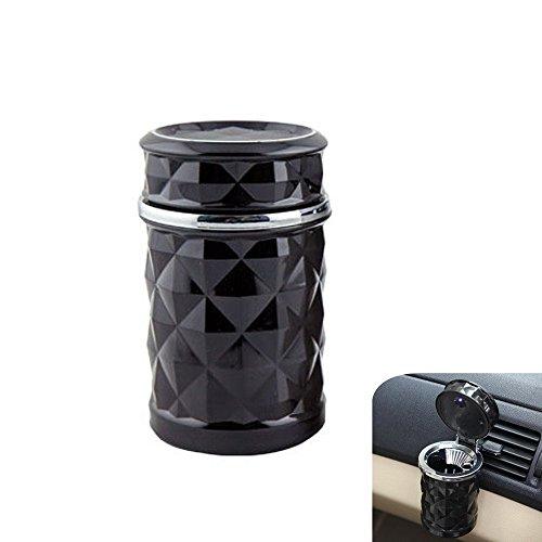 Scochemall Auto Posacenere blu LED Luce Cup Holder portatile sigaretta (Nero) - Cup Holder Posacenere