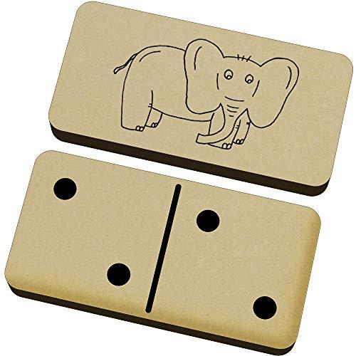 Azeeda 'Elefante' Domino Juego y Caja (DM00022013)