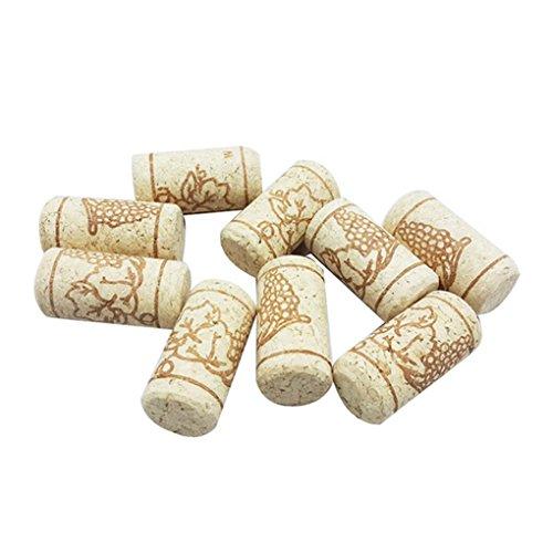 Jinzuke 15pcs Gerade Flasche Holz Korken Weinflasche Stopper Corks Wine Stoppers-Flaschen-Stecker Bar Werkzeuge Weinkorken Holzverschlusskappen