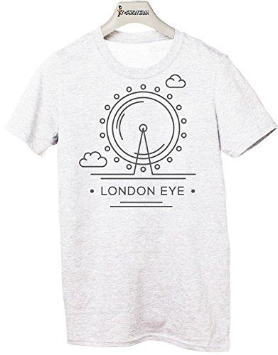 Tshirt Città - Londra - London Eye - Tutte le taglie by tshirteria Bianco