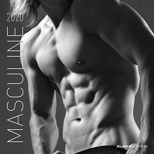 Masculine 2020 - Men - Boys - Männer - Broschürenkalender (30 x 60 geöffnet) - Wandkalender - schwarz-weiß - Erotikkalender