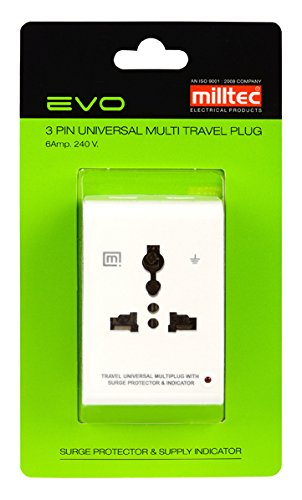 Milltec 1071 Evo 3 Pin Universal Multi Plug (with Surge Protection & Indicator)