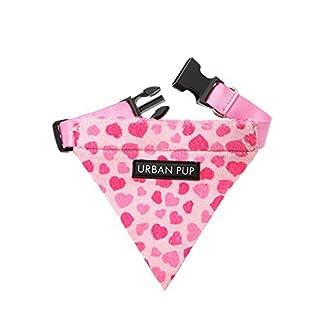 "UrbanPup Pink Hearts Bandana (Small - Dog Neck Circumference, adjusts: 8"" to 11"" / 20cm to 28cm) 14"