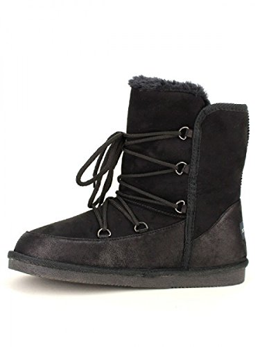 Cendriyon, Boots Fourrée STEPHAN Chaussures Femme Noir