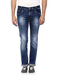 Mufti Mens Dark Blue Narrow Fit Mid Rise Jeans