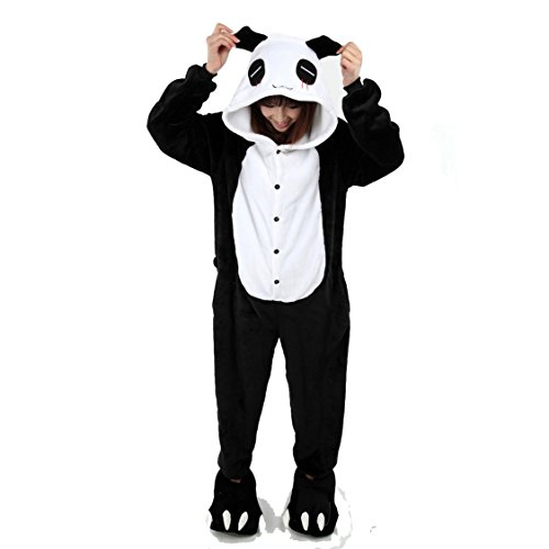 Yimidear® Unisex Pigiama Adulto Animale Cosplay Halloween Costume Attrezzatura (Giant Panda, L)