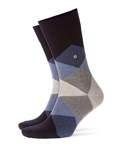 Burlington Herren Clyde modernes Muster Baumwolle 1 Paar Casual Socken, blau (Dark Navy 6376), 40/46 -