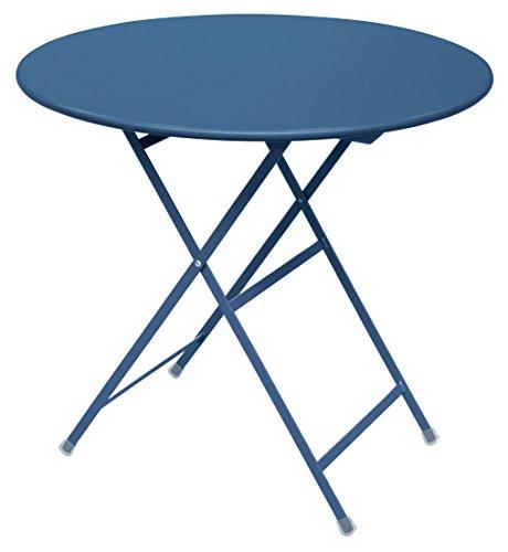 Arc en Ciel Emu ronde table pliante Ø cm. 80 couleur bleu huile code 61