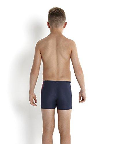 Speedo Jungen Badeanzug Sports Logo Aquashorts mit Einsatz Grau (Oxid Grey/Siren)