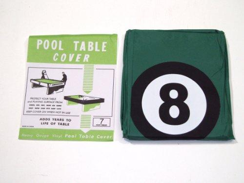 Abdeckung für Pool-Billardtisch mit Aufdruck der Schwarzen Acht, geeignet für 7 Fuß-Tische / 2,13°m