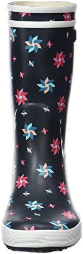 Aigle Unisex-Kinder Lolly Pop Glittery Gummistiefel Mehrfarbig (Marine/Pinwheel)