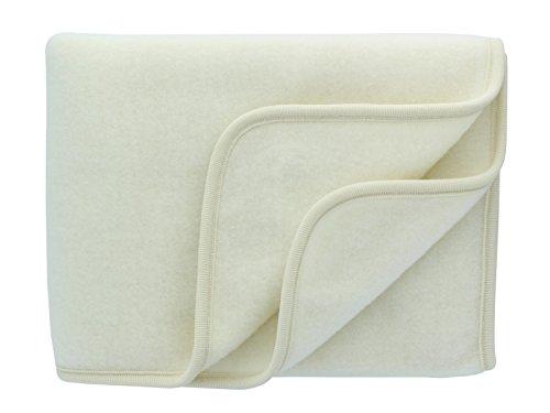 Babydecke Fleece, Engel Natur, 100% Schurwolle, 3 Farben (80X100, Natur)