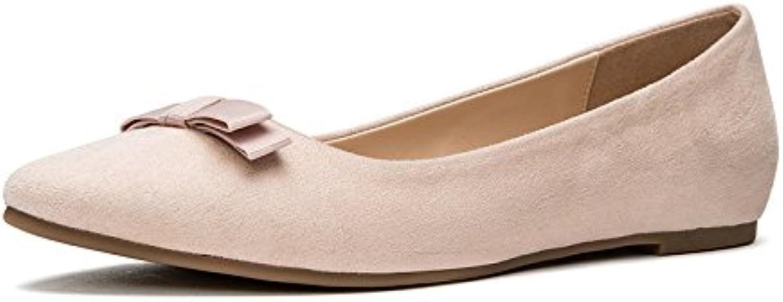DHG Sandali donna primaverili, scarpe piatte da donna, single alti alti alti a punta,rosa,36 | Primo gruppo di clienti  | Sig/Sig Ra Scarpa  40189a