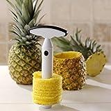 Jooks Pineapple Peeler Slicer Corer Peeler Handy Fruit Peeler Stainless Steel Fruit Cutting Slicing Coring Knife