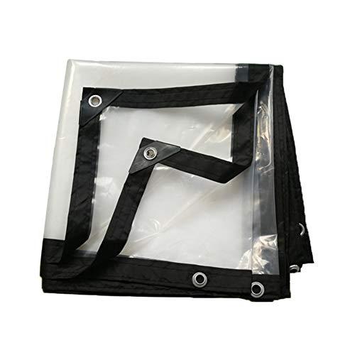 LINrxl Transparente wasserdichte Plane, Kunststoff-Isolationstuch Balkon-Regenvorhang-Erntetuch, 120 g/m² (Size : 2x10m) -