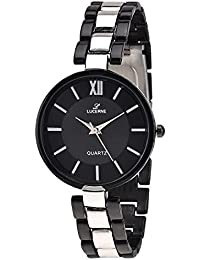 LUCERNE Analogue Black Dial Black Silver Mental Strap Wrist Watch For Women Watch A Modern Ladies Watch Mothers...