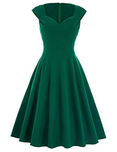 Einfach grün sommerkleid a linie kleid partykleid dress for women Größe XL BP125-3
