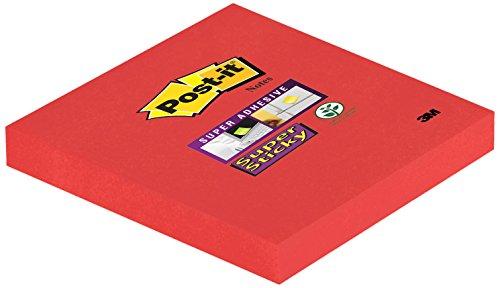 Post-it 654SR Haftnotiz Super Sticky Notes (76 x 76 mm) 6 Blöcke à 90 Blatt ultrarot