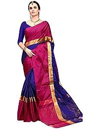 Yashraj Export Art Silk Saree With Blouse Piece(Sarees For Women Latest Design Partywear)