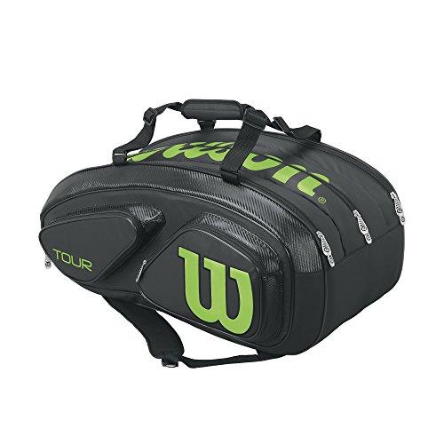 WILSON Unisex-Erwachsene Tour V 15 Pack Bkli Rucksack, Schwarz (Black) 36x24x45 centimeters