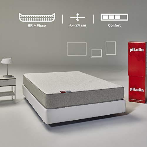 Pikolin Leah, colchón viscoelástico y espuma HR gama alta, 135x190, firmeza alta, confort visco, calidad...