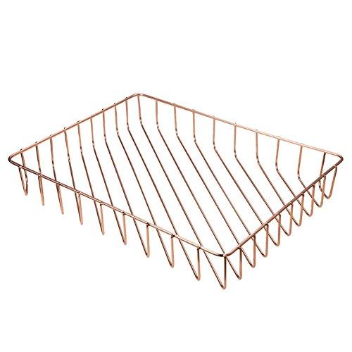 Abilieauty Metall-Speicher Eisen A4 Papier Ablagekorb Elegante Schreibtisch Organizer dekorativen Korb -