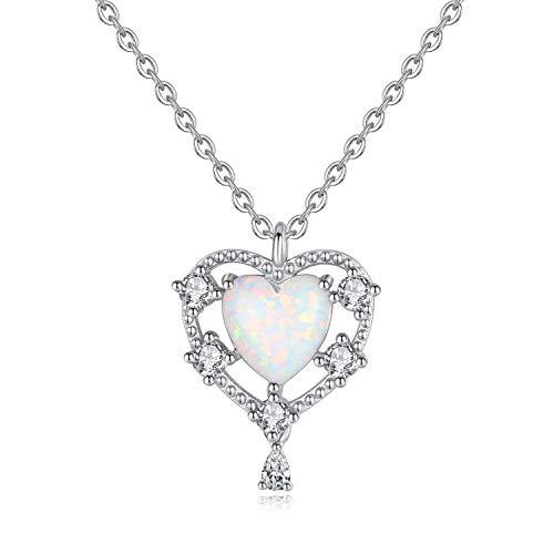GemShadow Damen Halskette mit Herz-Anhänger Sterling-Silber 925 ()