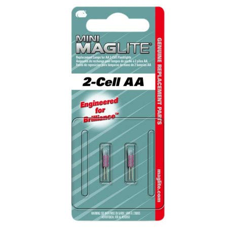 Mag-Lite LM2A001 Mini-Mag Halogène Ampoule Verre Transparente