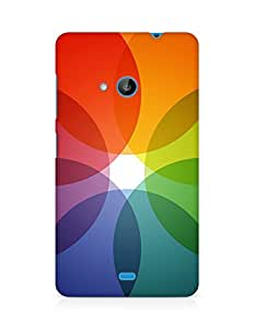 Amez designer printed 3d premium high quality back case cover for Microsoft Lumia 535 (Rainbow color circle pattern)