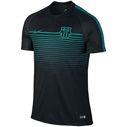 Nike F.C. Barcelona M Ss Sqd Cl - Camiseta de manga corta para hombre, color negro, talla M