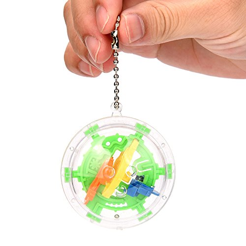 Oksea Labyrinth Ball Spiel 30 magischer Mini-Intelligenzball Herausforderung Barriere Smart Ball Weltraumreisender Balance Spiel Lernspielzeug Kinder Beste Spielzeug Geschenke (Mehrfarbig)