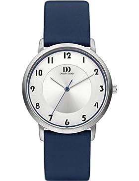 Danish Design Damen-Armbanduhr Danish Design Analog Leder Blau DZ120420