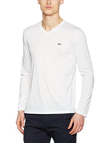 Lacoste Herren T-Shirt Th1370 Weiß (Blanc)